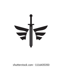 Sword with wing logo