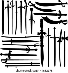 swords collection vector
