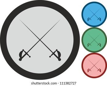 Swords, vector, icon