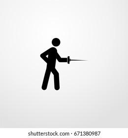 swordsman icon. vector sign symbol on white background