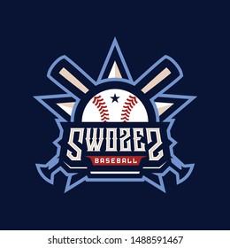 Swozes Baseball Team Club Sport Logo Design