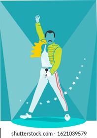 Sydney, Australia, 1985, Freddie Mercury concert