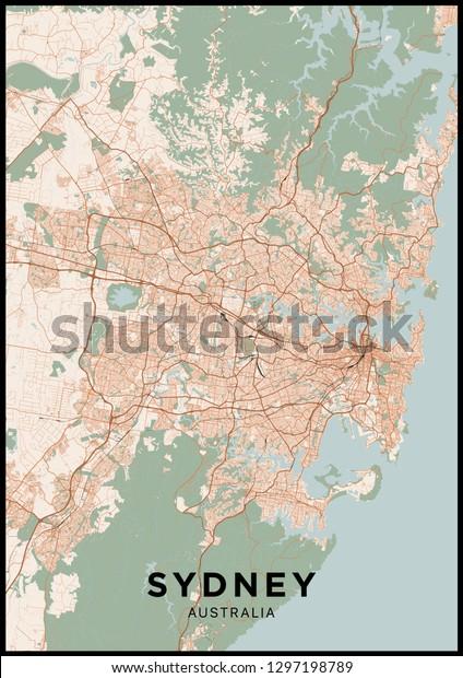 Vector De Stock Libre De Regalias Sobre Mapa De La Ciudad De