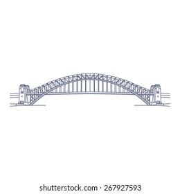 Sydney Harbour Bridge Illustration