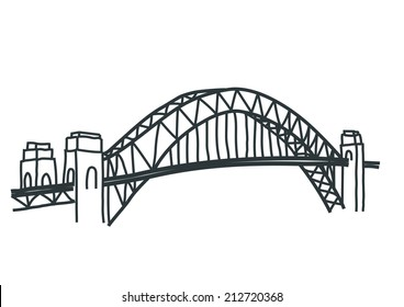 sydney harbour bridge vector