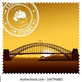 Sydney Harbour Bridge vector illustration