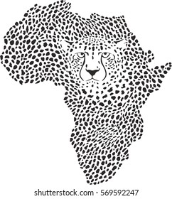 Symbol Africa in cheetah camouflages