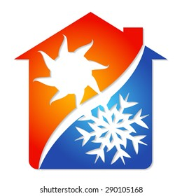 Symbol for an air conditioner business, vector