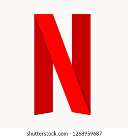 Symbol of the American company NETFLIX. Vector. EPS 10.