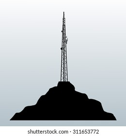 symbol antenna. silhouette antenna