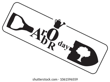 Symbol for April holiday Arbor Day. Vector illustration.