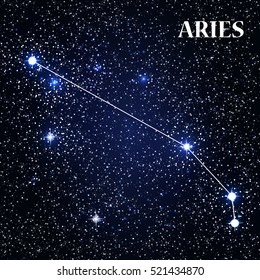 Symbol: Aries Zodiac Sign. Vector Illustration. EPS10