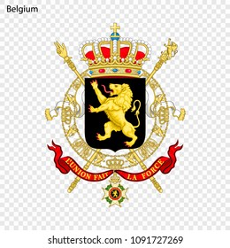 Symbol of Belgium. National emblem