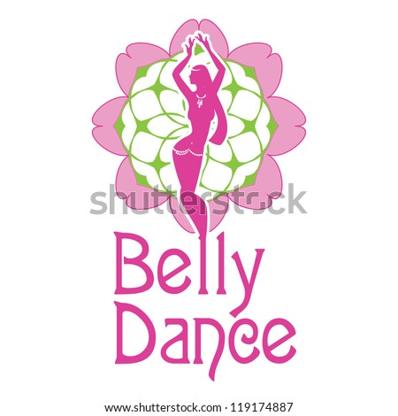 Symbol Belly Dances Silhouette Figure Girl Stock Vector Royalty