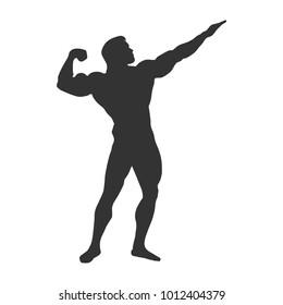 symbol bodybuilder contours gray