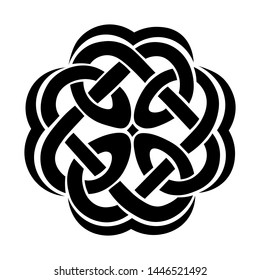 Symbol with a celtic elements. Vector illustration isolated on the white background.
