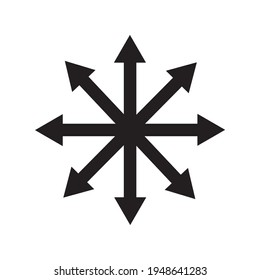 Symbol of Chaos vector isolated on white background. A symbol originating from The Eternal Champion
