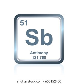 Antimony sb element periodic table flat stock vector 586786889 symbol of chemical element antimony as seen on the periodic table of the elements including urtaz Image collections