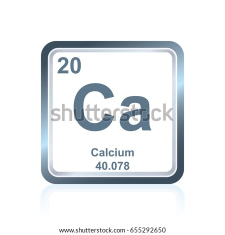 Symbol Chemical Element Calcium Seen On Stock Vector Royalty Free