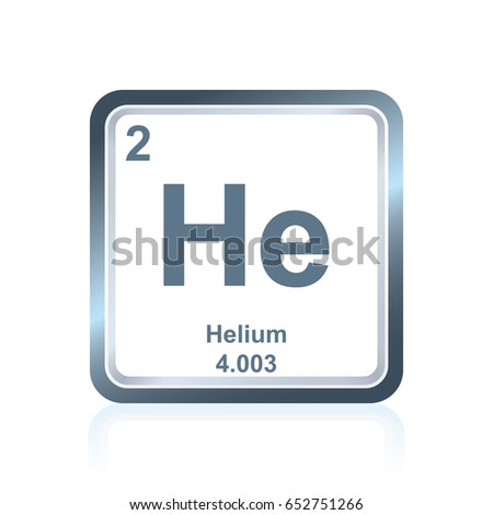 Symbol Chemical Element Helium Seen On Stock Vector Royalty Free