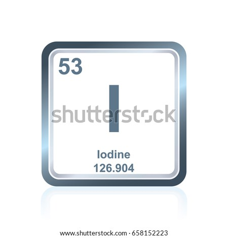 Symbol Chemical Element Iodine Seen On Stock Vector Royalty Free