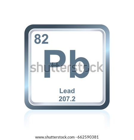 Symbol Chemical Element Lead Seen On Stock Vector Royalty Free