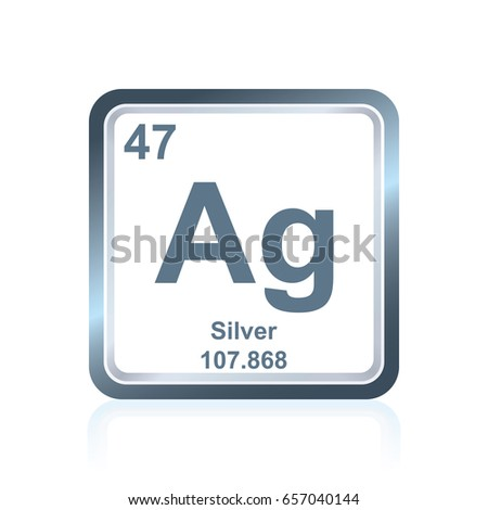 Symbol Chemical Element Silver Seen On Stock Vector Royalty Free