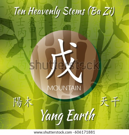 Symbol Chinese Hieroglyphs Translation 10 Zodiac Stock Vector