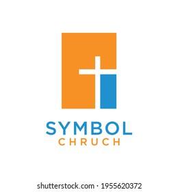 symbol church catholic christian modern logo design
