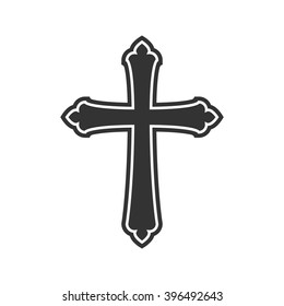 Symbol of a church cross. Christianity religion symbol.