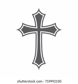 Symbol of a church cross. Christianity religion symbol.