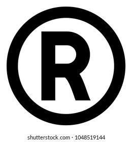 Symbol copyright icon black color