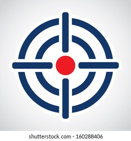 Symbol of crosshair in infographics style. Vector illustration