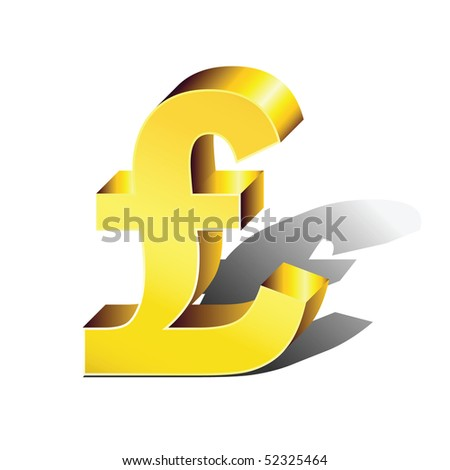 Symbol Currency Pound Sterling Color Volume Stock Vector Royalty