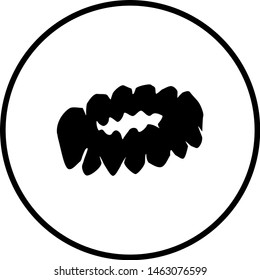 symbol depicting a scrunchie hair accessory