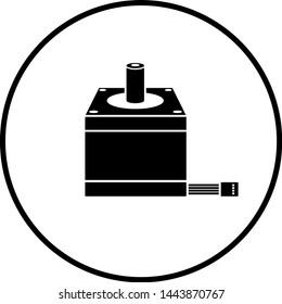 symbol depicting a stepper motor