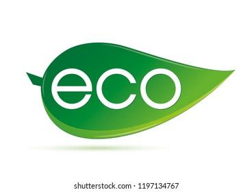 Symbol ecology with leaf