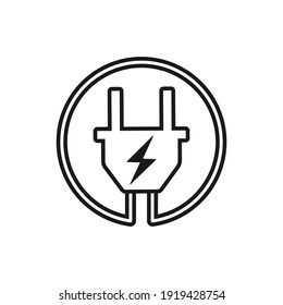 Symbol for electric charging, flat design vector