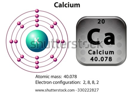 symbol electron diagram calcium illustration stock vector royalty rh shutterstock com bohr diagram for calcium ion bohr diagram for calcium ion