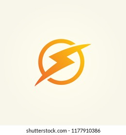 symbol of energy, power energy icon, lightning vector logo