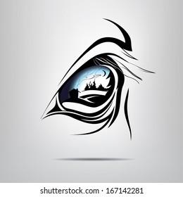 Symbol equine eye. vector illustration