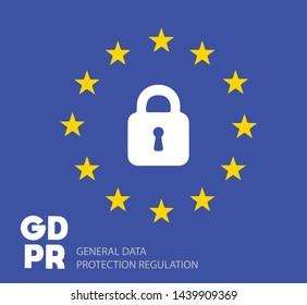 Symbol European General Data Protection Regulation Vector