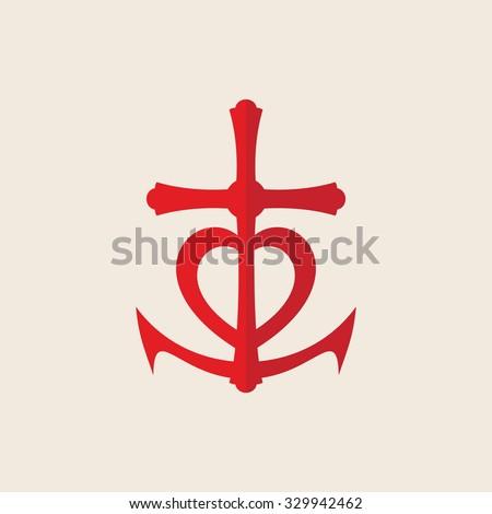 Symbol Faith Hope Love Stock Vector Royalty Free 329942462