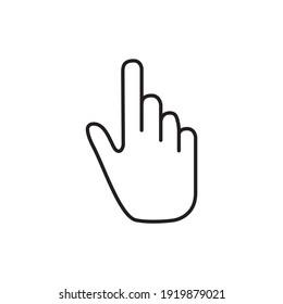 Symbol flat finger icon isolated.