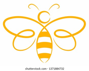 A symbol of the flying stylized bee.
