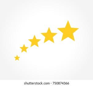 Symbol of gold stars. Vector illustration