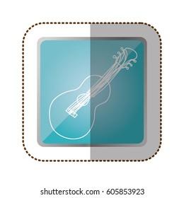 symbol guitar instrument icon, vector illustration design