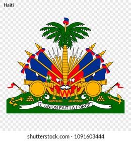 Symbol of Haiti. National emblem
