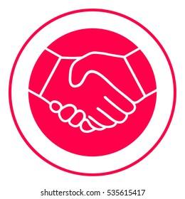 Symbol of handshake in circle. Icon