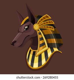 Symbol head of Anubis. Vector illustration